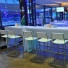 High Table White Lounge Group und High Table White Lounge Quaddro mit Barhocker Creative weiß
